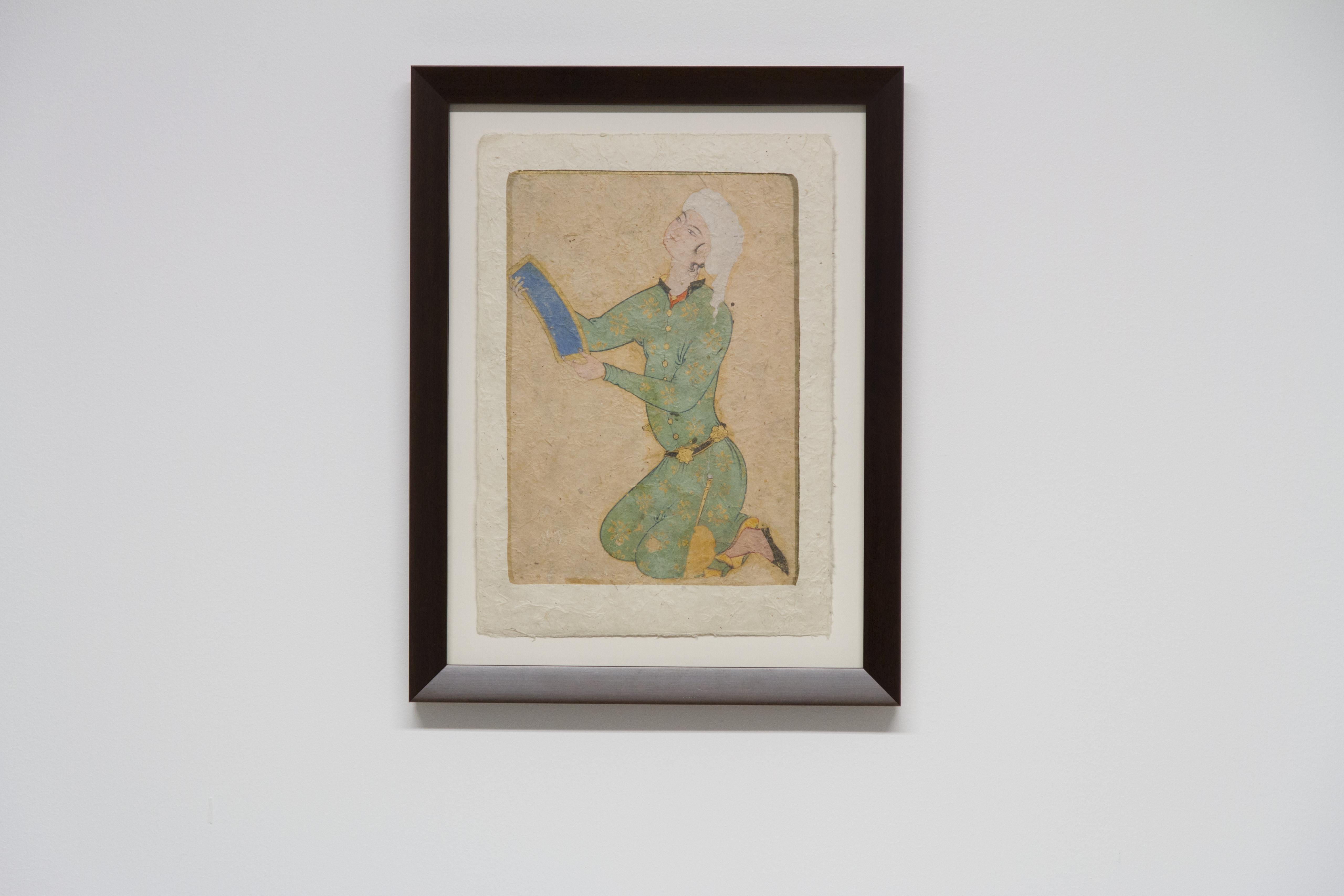 Impression sur papier Lokta d'une miniature persane encadrée par Artlabs Artdeqo